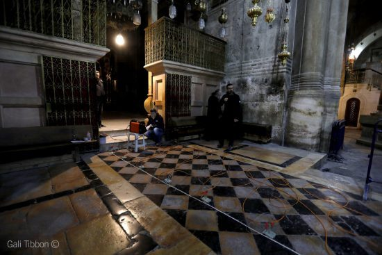 GPR metod for unsealing of the Tomb of Christ