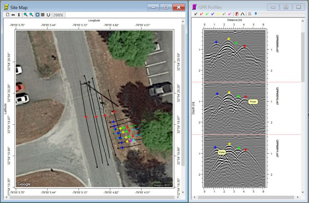 Screenshot of utility mapping software Object Mapper